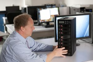 A disk subsystem with 20 terabytes is being configured for additional storage capacity